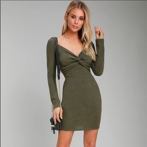 LuLus Take Things Up a Knot bodycon dress